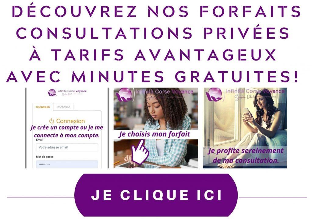 Forfaits consultation privée / Infinità Corse Voyance