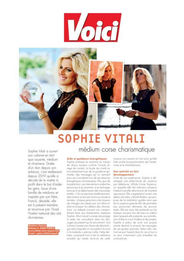 Sophie Vitali dans le magazine Voici
