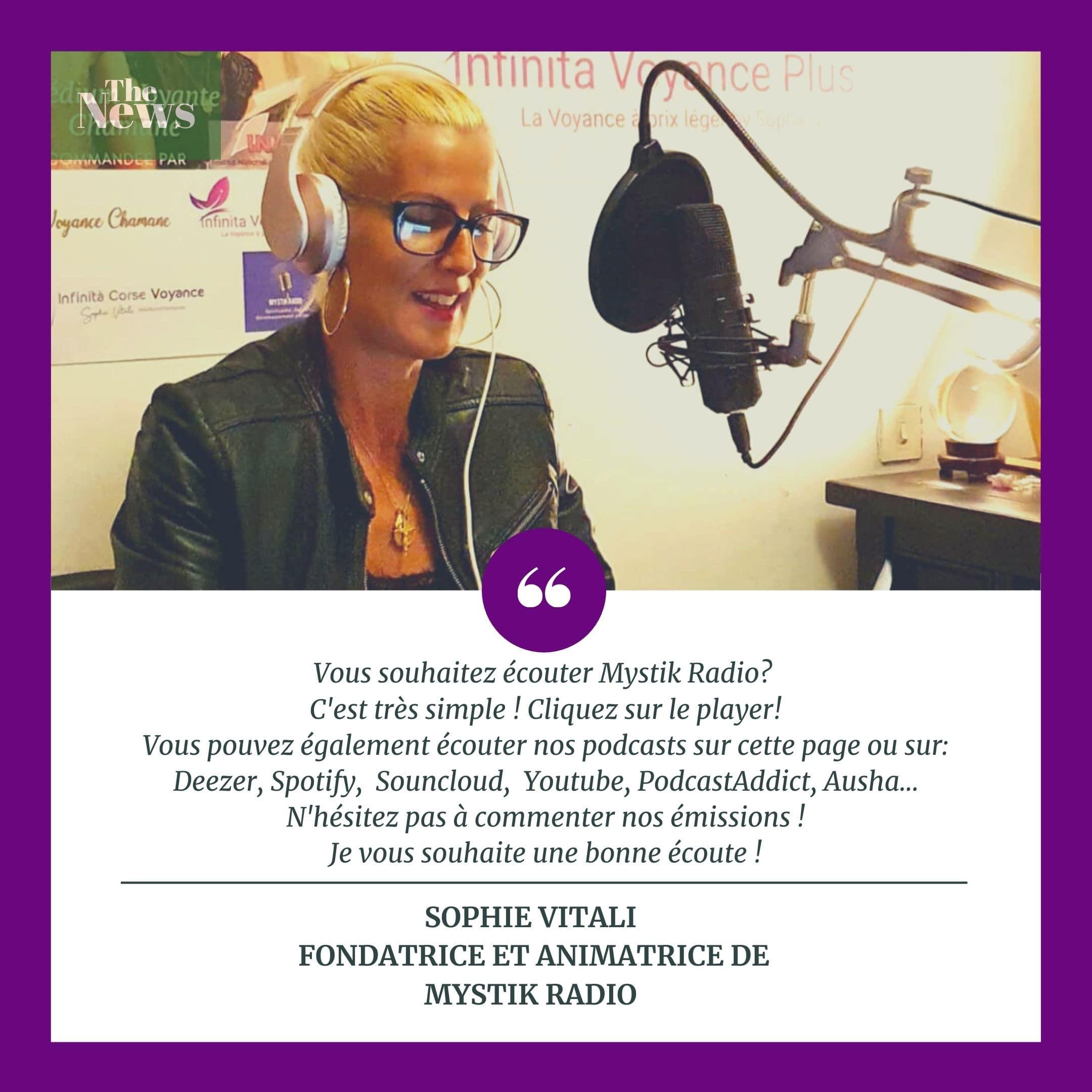 Sophie Vitali créatrice sur Mystik Radio