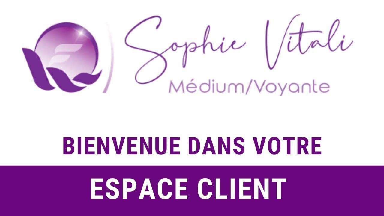 Bienvenue dans l'espace client du site sophie-vitali.com