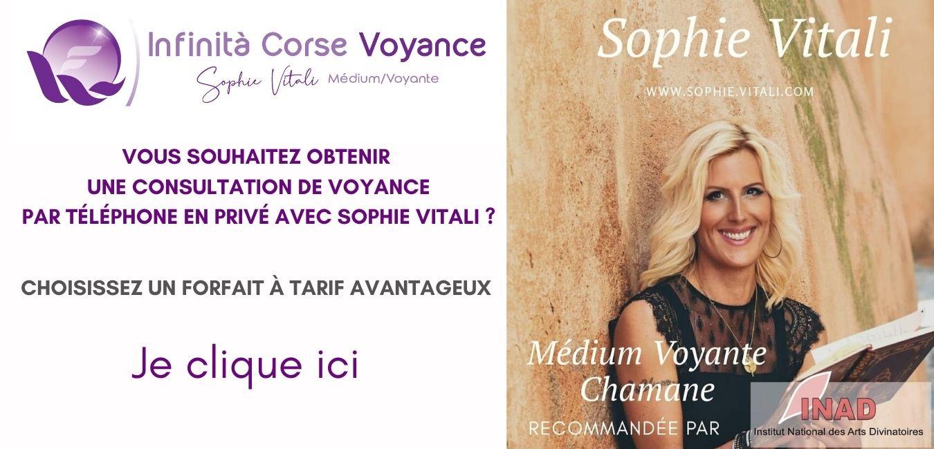 Sophie Vitali en consultation privée / boutique.infinita-corse-voyance.com