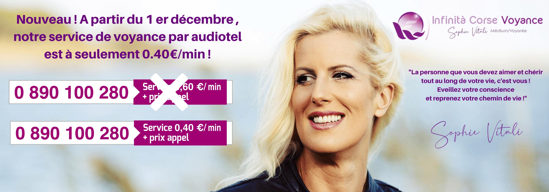 Consultez Sophie Vitali par audiotel à seulement 0.40€/min.
