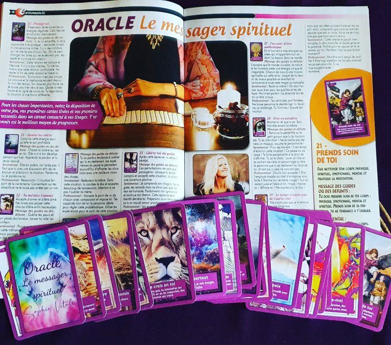 Oracle Le messager spirituel de Sophie Vitali en exclusivité dans le magazine Vous et votre avenir