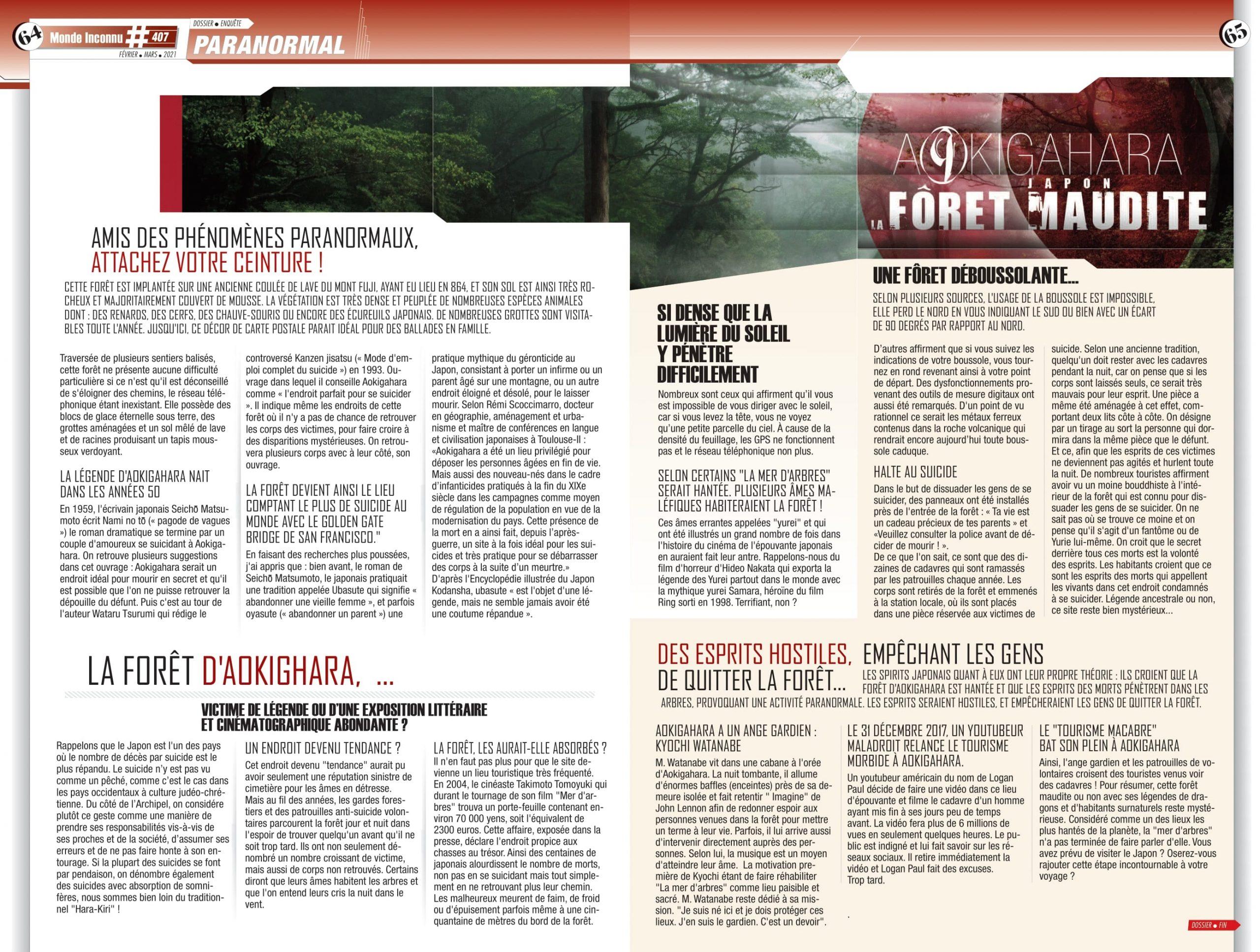 Sophie Vitali chroniqueuse presse pour le magazine Monde Inconnu
